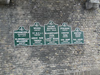 Imperial War Grave Commission Cemetery Signs, The Lille Gate, Ypres